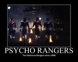 Psycho Rangers Motivator by htfman114
