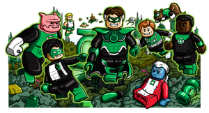 Lego Green Lanterns by Catanas192