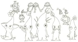 Random Pikmin 2 Drawing by CharlesBulbmin