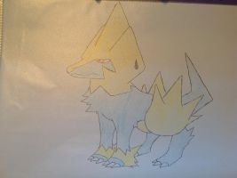 Pokemon - Manectric by dewildbunbun