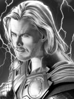 Thor Final w dark background by corysmithart