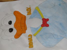 Donald duck by RebeccaG1999