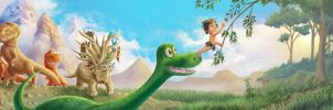 The Good Dinosaur  - A Helping Hand by Rorus007