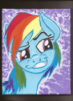 Rainbow Dash's huehue face by Pwnyville