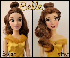 repainted ooak princess belle doll. by verirrtesIrrlicht