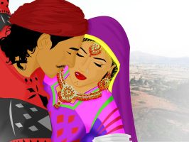 Traditional Gujarati Couple by ArsalanKhanArtist