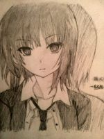 Anime Girl Drawing by DeSamuel