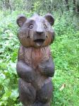 Wooden bear by Hedgehog-Russell