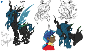 MLP - King Chrysalis sketches by NakkiStiltz