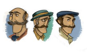The Three Borthers- Face Concepts by christy-mac