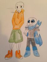 Underswap sans and papyrus  by zoozybeencloned