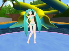 [MMD] PD Swimsuit Miku by xXONIONSXx
