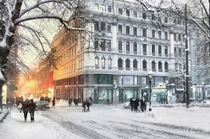 Helsinki Winter by Pajunen