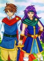 Final Fantasy V : Bartz Klauser x Faris Scherwiz by dagga19
