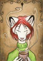 Tea lover- ACEO by FoxInShadow