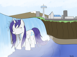 Rarity Visits Niagara Falls by RapidStrike