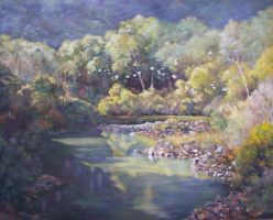 Darmouth River-Australia - Oil Painting by AstridBruning