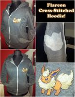Flareon Cross-stitched Hoodie by prophet1991