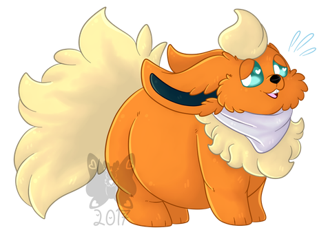 [Commission] - Fatty Flareon by Adoeable