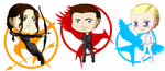 The Hunger Games Chibies by TorresAdlinCDL91