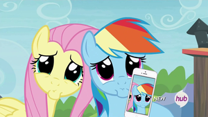 Rainbow Dash, Fluttershy + Iphone by lionovsky