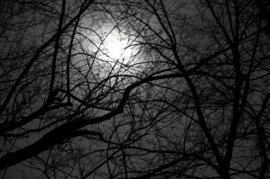 Moon through clouds 2 by AkimaDoll