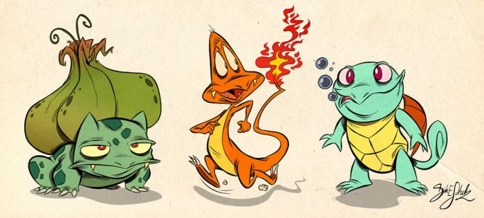 Pokemon Starter 1st Gen by Themrock