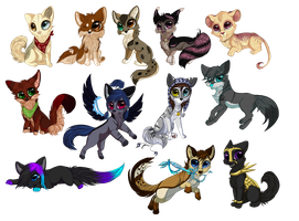 Chibis everywhere! :D by LiaBorderCollie
