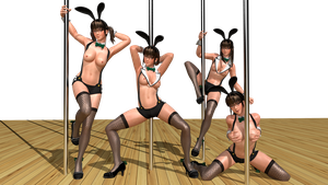 Hitomi Bunny Topless MOD by Deluwyrn