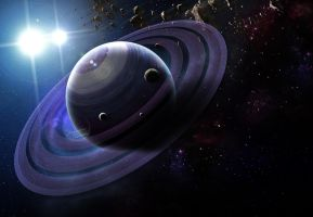gas giant with rings by ribcage-menagerie