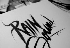 Rain Sound lettering by YohProject