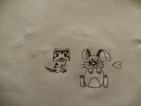 Cute bunny and tiger by Hackerdvm