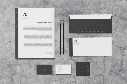 Triad - Stationery Template by macrochromatic