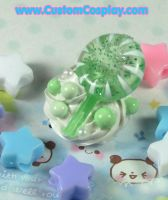 Green lollipop ring by The-Cute-Storm
