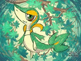 Snivy made out of pencils! by GuiNRedS