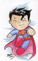Chibi-Superman. by hedbonstudios