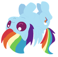 Chibi Rainbow Dash by Blood-Charm