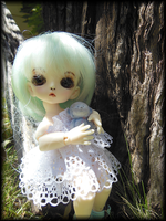 Arisa's first faceup - blue wig by TaitRochelle