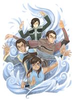 LOK - waterbenders by PetitPotato