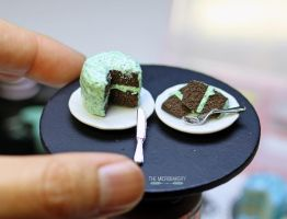 Mint Chocolate Chip Chocolate Cake 2 by TheMicroBakery