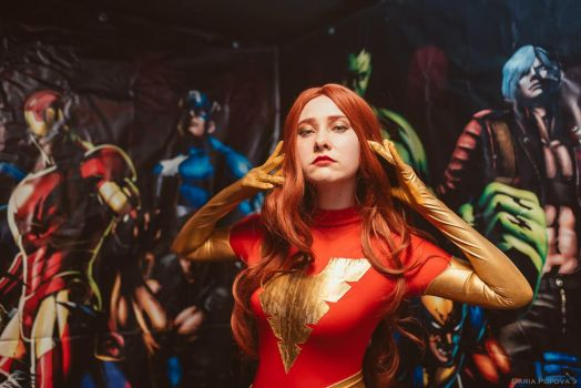 Dark Phoenix cosplay, Comics Day, Nirvana live bar by Shiera13