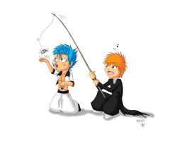 comm: Grimmjow and Ichigo by feerl