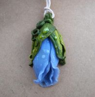 Blue rose pendant by AHHA