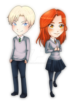 Commission: Draco and Ginny by xMarinx