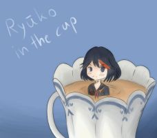Ryuuko in the cup by Mookalien