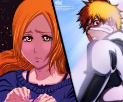 Bleach 546 -  Orihime,Ichigo by DarkNyash