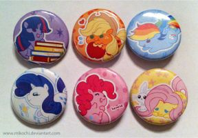 MLP Buttons by Mikochi