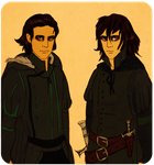Twin brothers by wickedevilbunny
