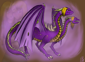 The Cursed Dragon - RoMi's Alternate Form by AzaleaCloud