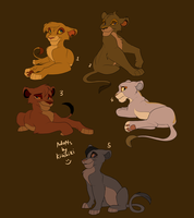 3 Lion King Cub adoptables-POINTS OR MONEY- by Kitchiki